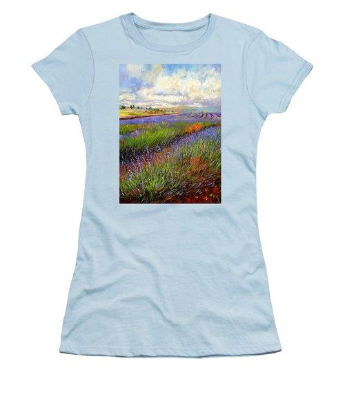 Lavender Field Women's T-Shirt (Athletic Fit)
