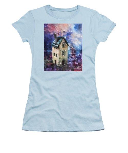 Lavender Hill Women's T-Shirt (Junior Cut) by Mo T