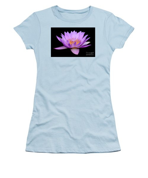 Lavender Tropical Day Lily Women's T-Shirt (Athletic Fit)