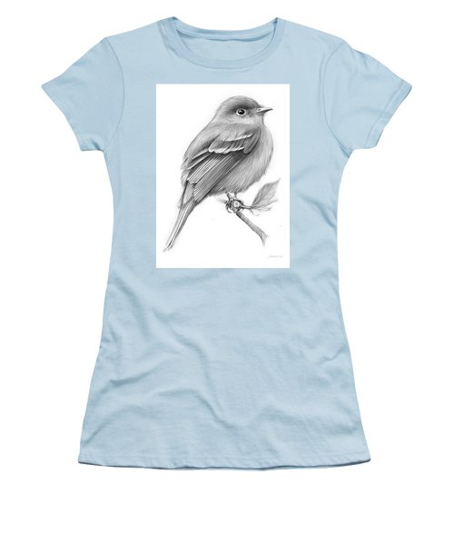 Least Flycatcher Women's T-Shirt (Athletic Fit)