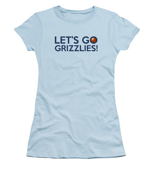 Let's Go Grizzlies Women's T-Shirt (Athletic Fit)