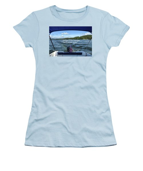 Women's T-Shirt (Athletic Fit) featuring the photograph Life Of Leisure by Peggy Hughes