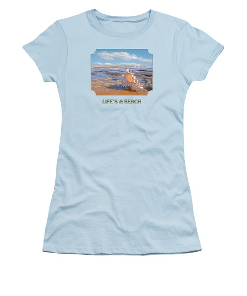 Life's A Beach - Murex Ramosus Seashell Women's T-Shirt (Athletic Fit)