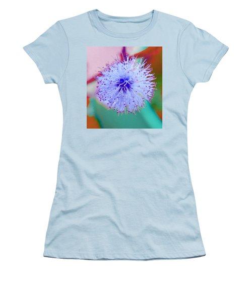 Light Blue Puff Explosion Women's T-Shirt (Junior Cut) by Samantha Thome