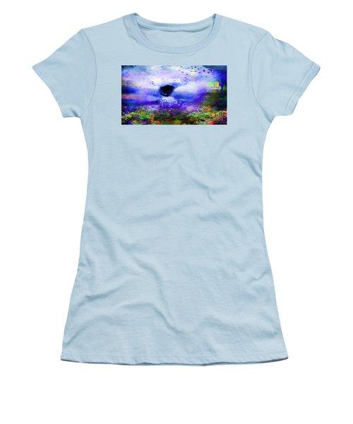 Lighthouse Angel Purple In Hotty Totty Style Women's T-Shirt (Junior Cut) by Catherine Lott