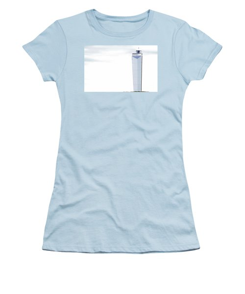 Women's T-Shirt (Athletic Fit) featuring the photograph Lighthouse At Cape Jervis by Stephen Mitchell