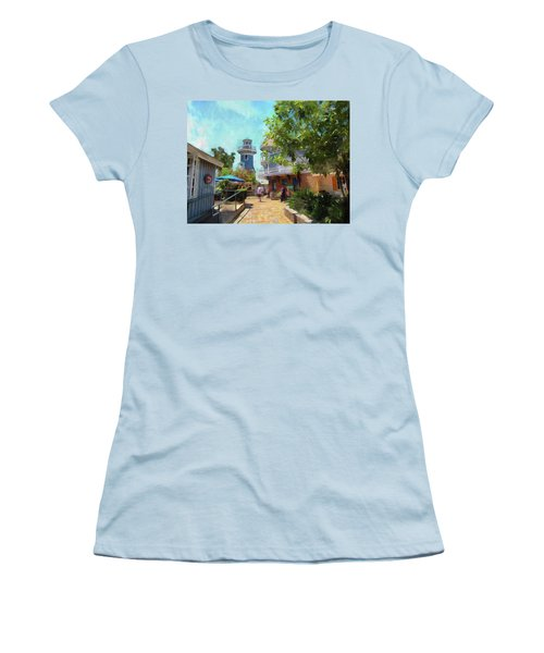 Lighthouse At Seaport Village Women's T-Shirt (Athletic Fit)