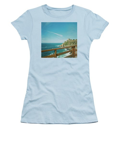 Lighthouse Over The Ocean Women's T-Shirt (Athletic Fit)