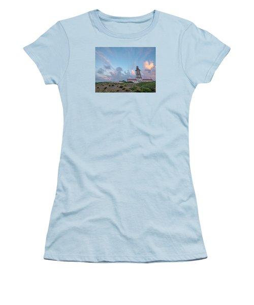 Lighthouse Sunrise At Cape Espichel Women's T-Shirt (Athletic Fit)