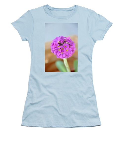 Women's T-Shirt (Junior Cut) featuring the photograph Single Pink Flower by Marion McCristall