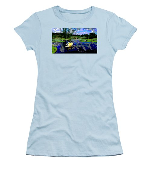 Lily Pond Women's T-Shirt (Junior Cut) by Charles Shoup