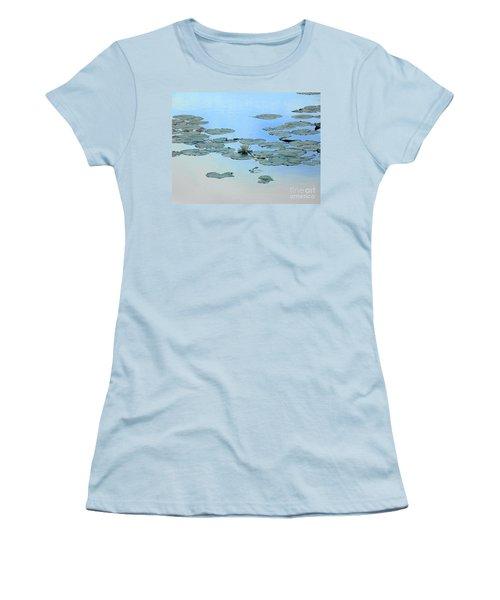 Lily Pond Women's T-Shirt (Junior Cut) by Daun Soden-Greene