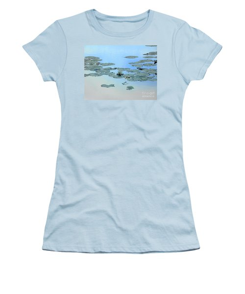 Women's T-Shirt (Junior Cut) featuring the photograph Lily Pond by Daun Soden-Greene
