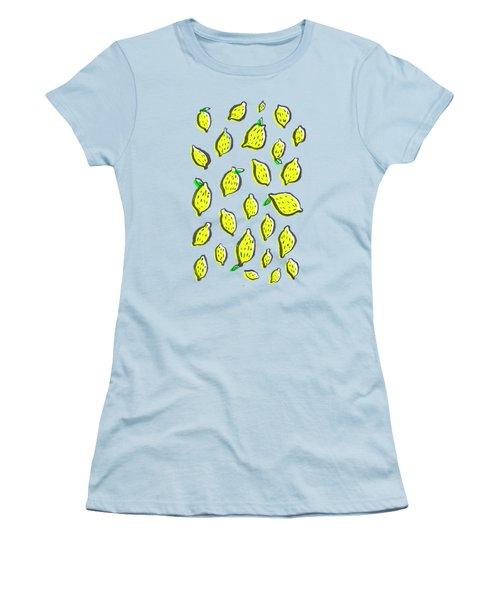 Limones De Primavera Women's T-Shirt (Junior Cut) by Studio Sananikone