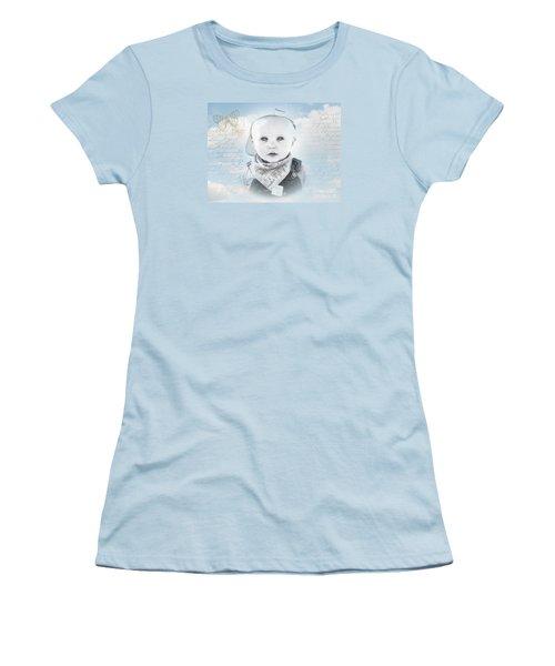 Little Boy Blue Women's T-Shirt (Junior Cut) by Karen Lewis