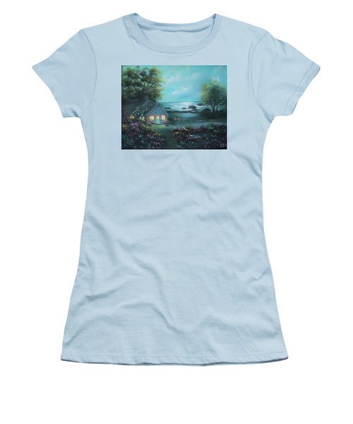 Little House By The Sea Women's T-Shirt (Athletic Fit)