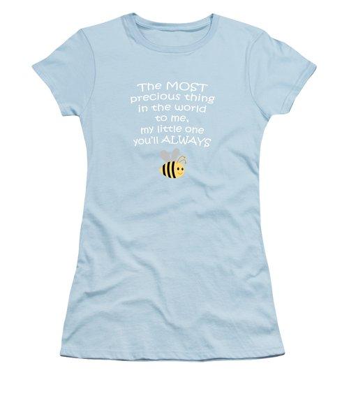 Little One Blue Women's T-Shirt (Junior Cut) by Inspired Arts