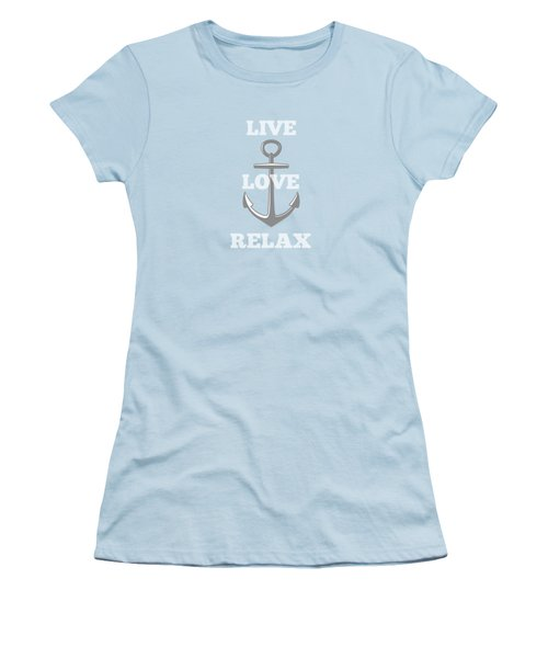 Live Love Relax - Customizable Color Women's T-Shirt (Athletic Fit)