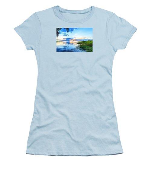 Women's T-Shirt (Junior Cut) featuring the photograph Lochloosa Lake by Anthony Baatz