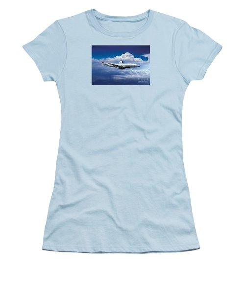 Willie Victor, Lockheed Ec-121k Warning Star In Flight Women's T-Shirt (Athletic Fit)
