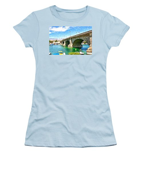 London Bridge In Arizona Women's T-Shirt (Athletic Fit)