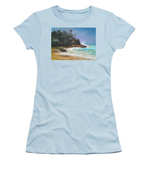 Lonely Sea Women's T-Shirt (Junior Cut) by Rushan Ruzaick