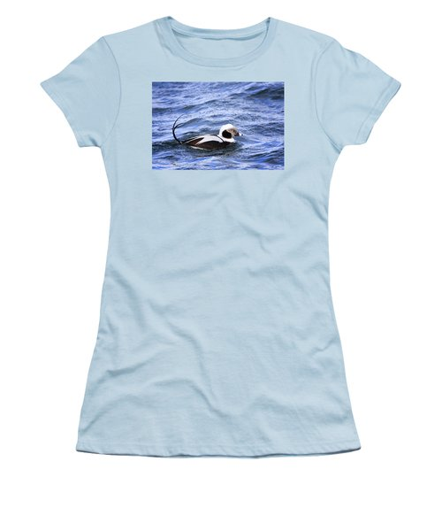 Long-tailed Duck 2 Women's T-Shirt (Athletic Fit)