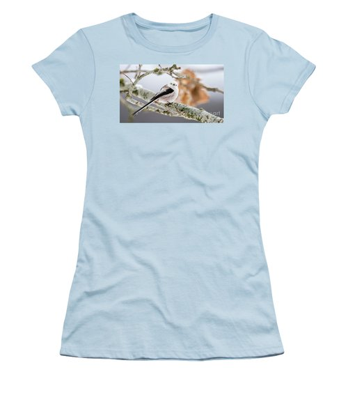 Women's T-Shirt (Junior Cut) featuring the photograph Long-tailed Tit by Torbjorn Swenelius