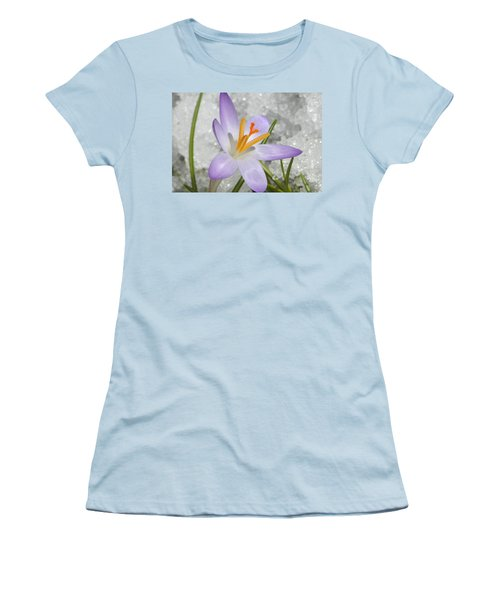 Women's T-Shirt (Junior Cut) featuring the digital art Look To The Sun by Barbara S Nickerson