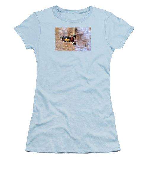 Looking At Me Women's T-Shirt (Junior Cut) by Lynn Hopwood