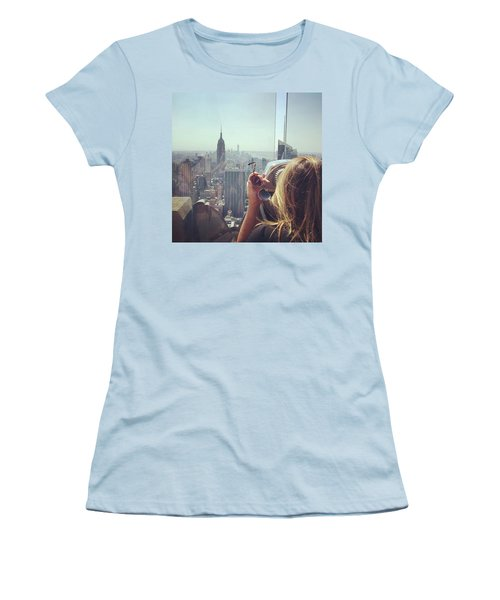 Looking Downtown In Style. #nyc Women's T-Shirt (Athletic Fit)