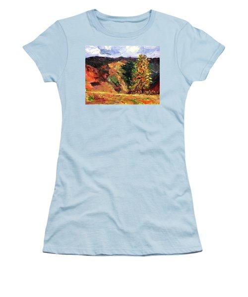 Loose Landscape Women's T-Shirt (Junior Cut) by Janet Garcia