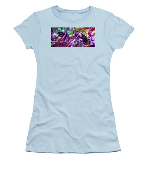 Lord Of The Rings Art - Colorful Modern Abstract Painting Women's T-Shirt (Athletic Fit)