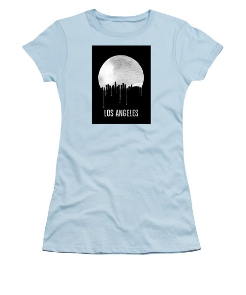 Los Angeles Skyline Black Women's T-Shirt (Athletic Fit)