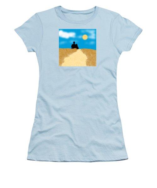 Women's T-Shirt (Junior Cut) featuring the digital art Love Birds by Karen Nicholson