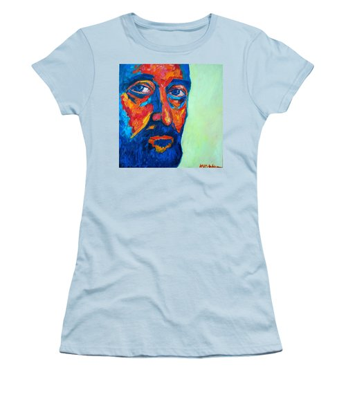 Women's T-Shirt (Junior Cut) featuring the painting Love Him So Much by Ana Maria Edulescu