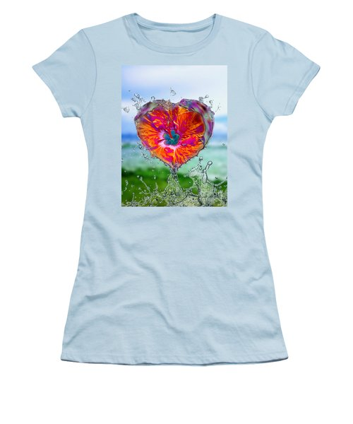 Love Makes A Splash Women's T-Shirt (Athletic Fit)
