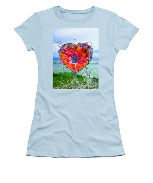 Love Makes A Splash Women's T-Shirt (Athletic Fit)