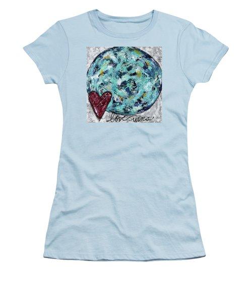 Love Wins Women's T-Shirt (Junior Cut) by Kirsten Reed