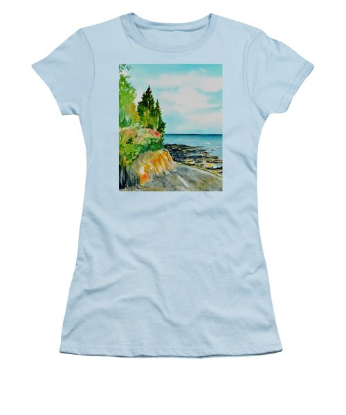 Mackworth Island Maine  Women's T-Shirt (Athletic Fit)