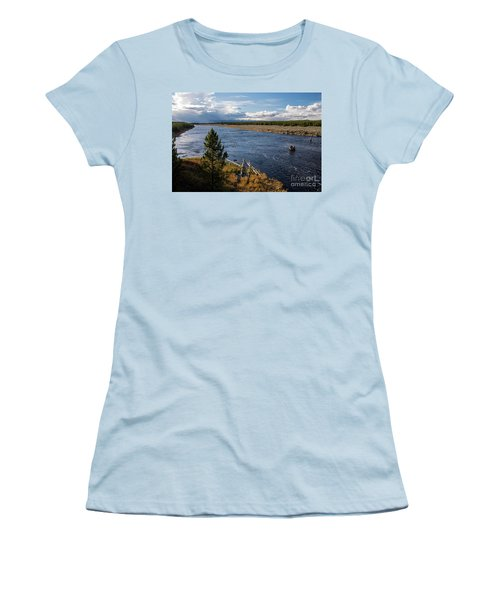 Madison River In Yellowstone National Park Women's T-Shirt (Junior Cut) by Cindy Murphy - NightVisions