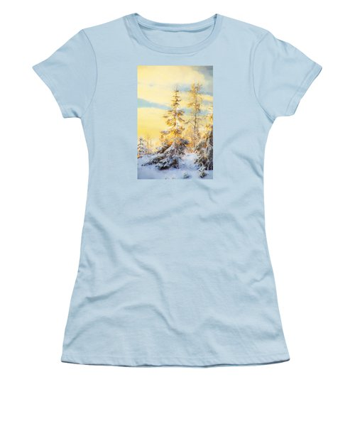 Women's T-Shirt (Junior Cut) featuring the photograph Magical Winter Landscape by Rose-Maries Pictures