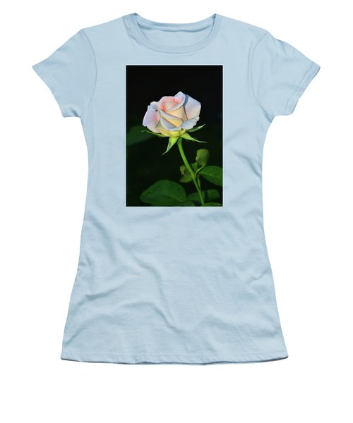 Women's T-Shirt (Junior Cut) featuring the photograph Maid Of Honour Rose 001 by George Bostian