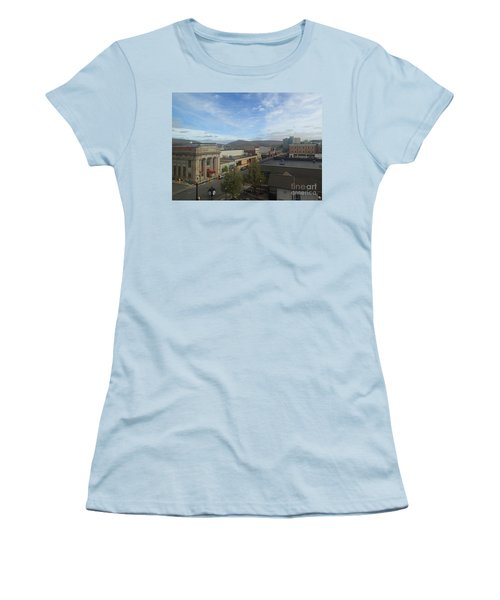 Main St To The Mountains   Women's T-Shirt (Junior Cut) by Christina Verdgeline