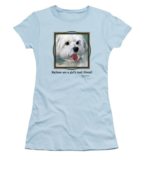 Maltese Are A Girl's Best Friend Women's T-Shirt (Athletic Fit)