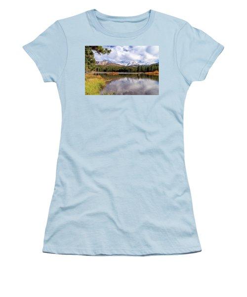 Women's T-Shirt (Junior Cut) featuring the photograph Manzanita Lake - Mount Lassen by James Eddy