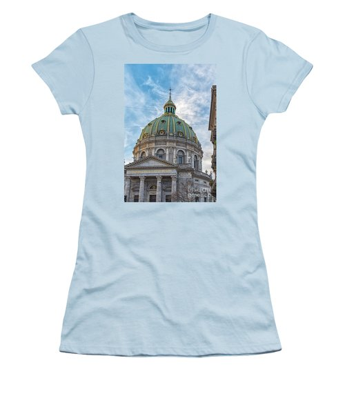 Women's T-Shirt (Junior Cut) featuring the photograph Marble Church In Copenhagen by Antony McAulay