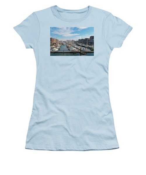 Marina In The Netherlands Women's T-Shirt (Junior Cut) by Hans Engbers