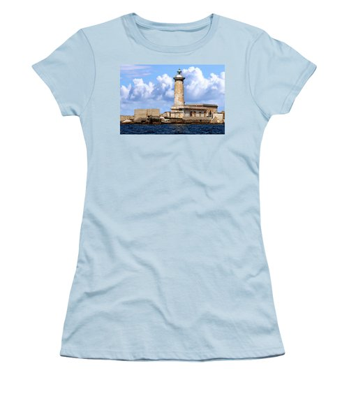 Marsala Lighthouse Women's T-Shirt (Athletic Fit)