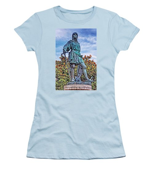 Women's T-Shirt (Athletic Fit) featuring the photograph Marshal Of Brittany Jehan De Beaumanoir by Elf Evans